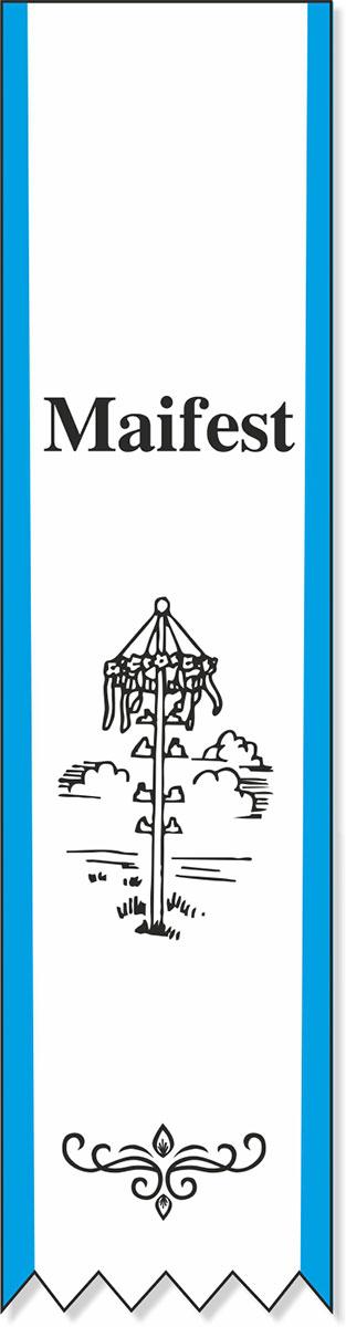 Festabzeichen  mit Maibaummotiv - Lagerartikel