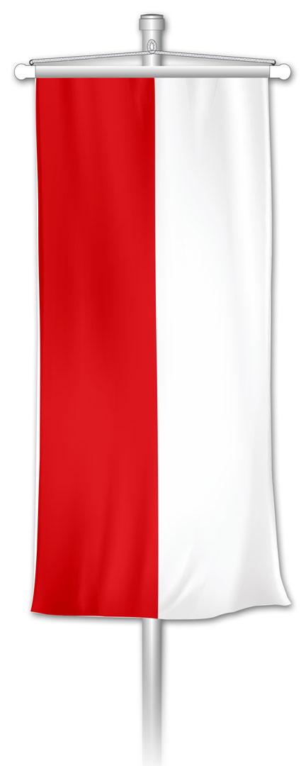 Bannerfahne Rot-Weiß