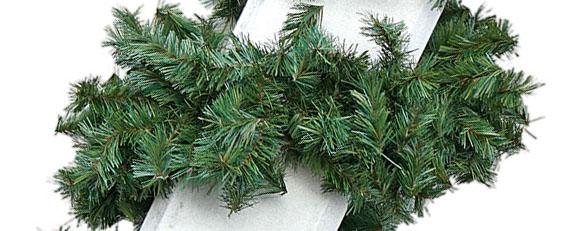 Zweiggirlande 28 cm Durchmesser - Nahaufnahme