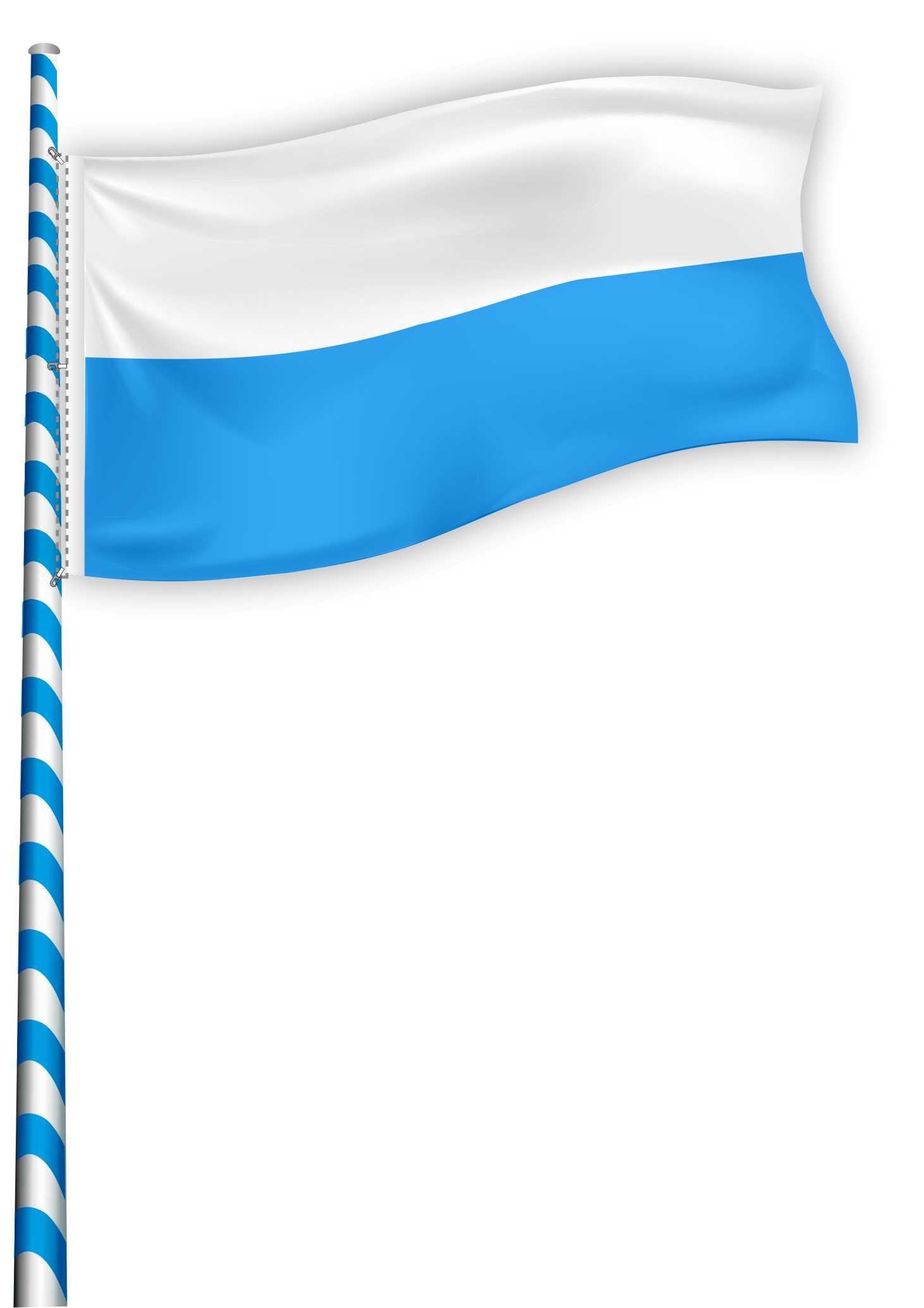 02 Flagge für Maibaum - Maibaumflagge EXTRA mit Metallkarabinerhaken