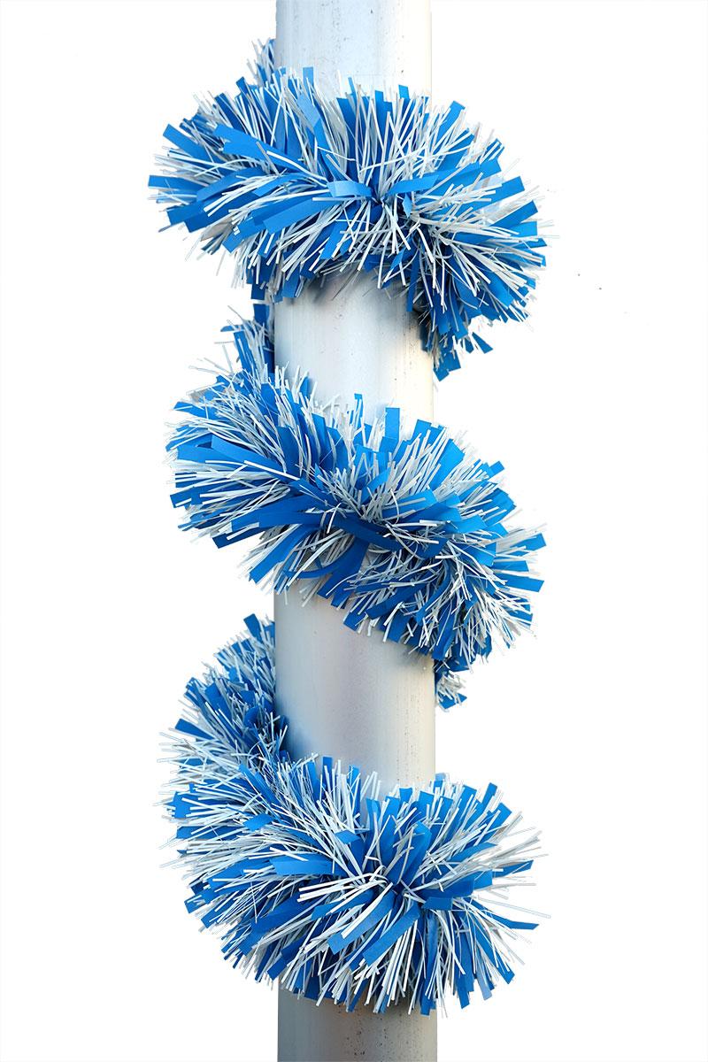 Festgirlande in weiss-blau Ø 12cm