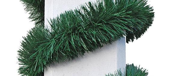 grüne Maibaumgirlande, Durchmesser 7,5 cm