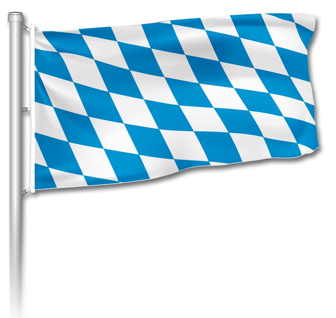 Flagge - bayerische Raute