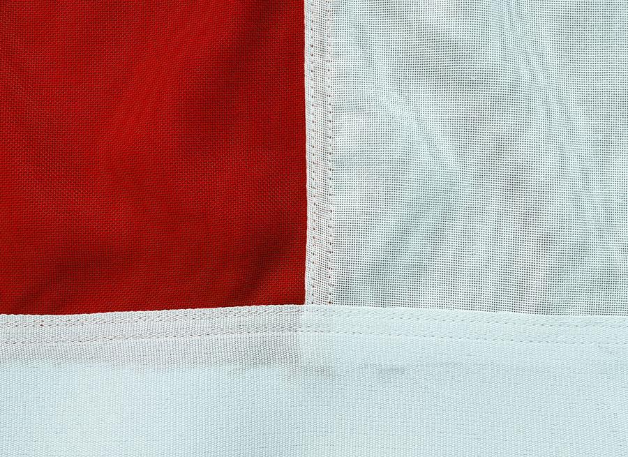 06 Flagge für Maibaum EXTRA rot-weiß