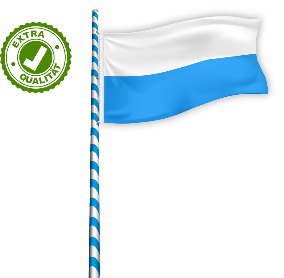 04 Flagge für Maibaum EXTRA weiß-blau